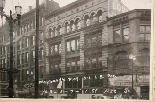 Yesler Building, 1937 (Puget Sound Regional Archives)