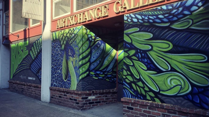 ArtXchange Gallery mural created by Jonathan Wakuda Fischer, sponsored by Individual Business Owner.
