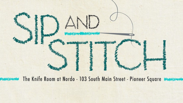 Sip and Stitch in The Knife Room