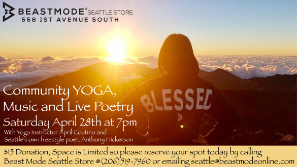 Community Yoga, Music and Live Poetry